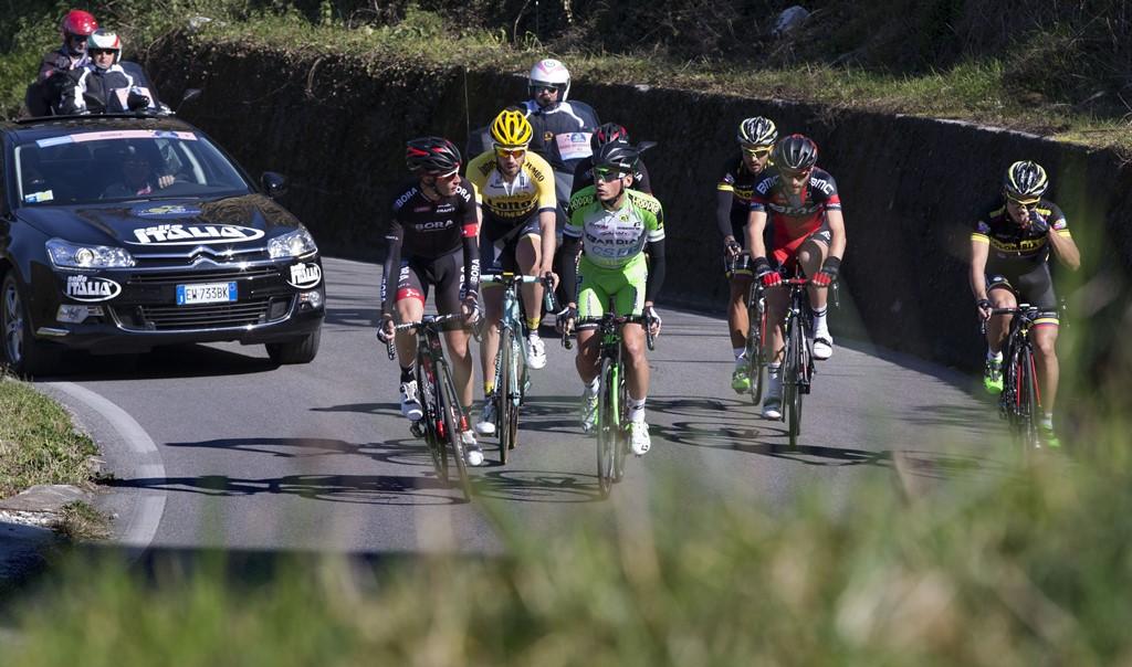 La fuga che ha caratterizzato la 2^ tappa della Tirreno-Adriatico 2015