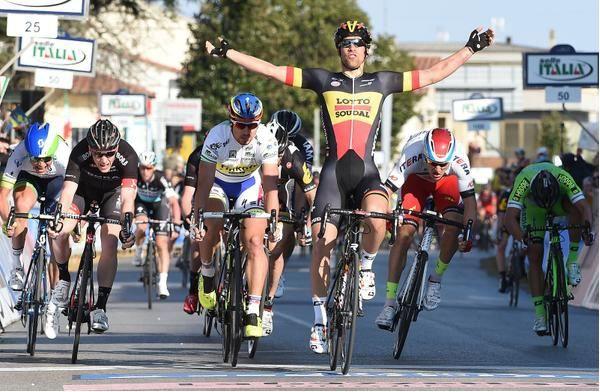 Debusschere vince in volata la 2^ tappa della Tirreno-Adriatico 2015