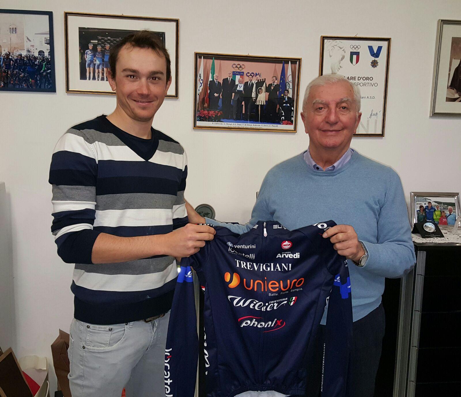 Malaguti firma con il Team Unieuro Wilier Trevigiani