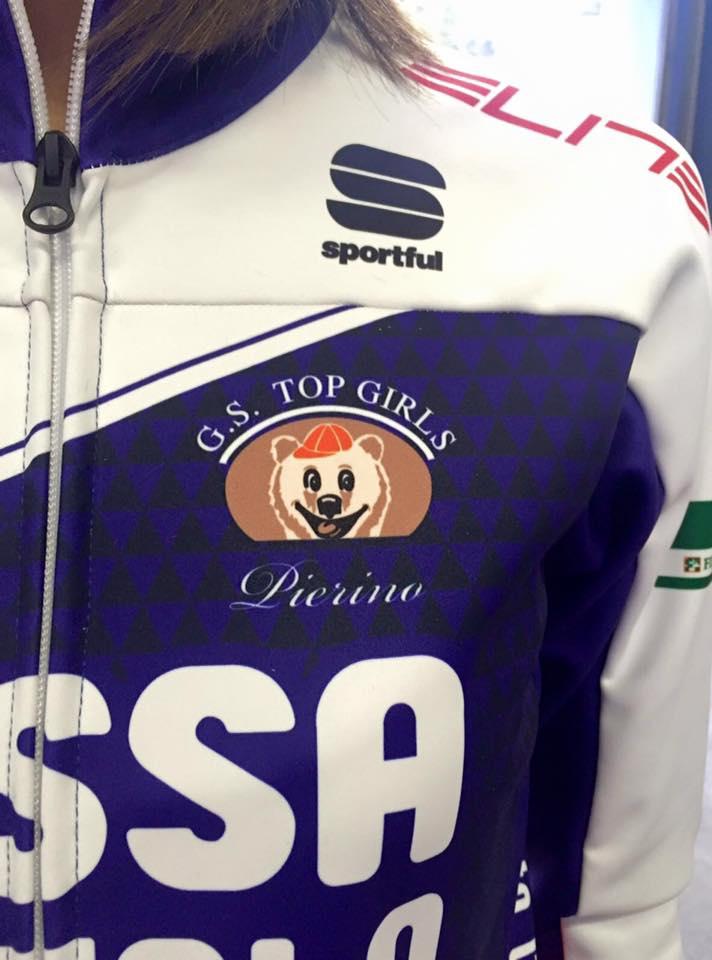 Il nick-name di Chiara Pierobon, Pierino, inserito sotto al logo della squadra