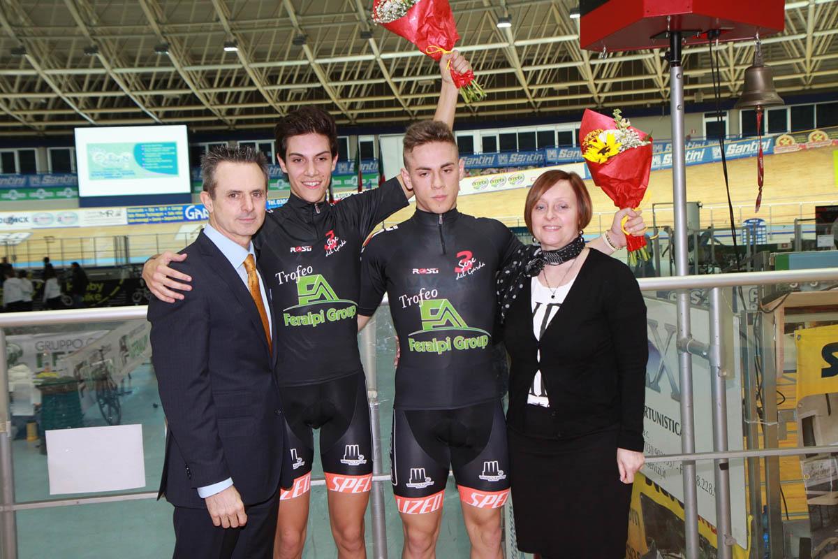 Il podio Allievi maschi (foto Fabiano Ghilardi)