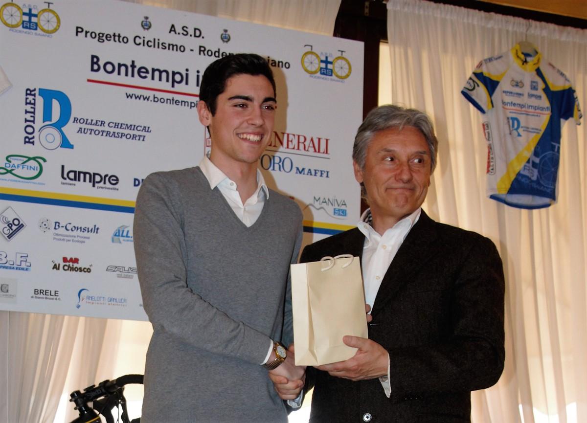 Saronni premia Luca Volpi