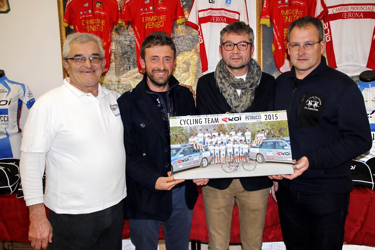 da sinistra: Raffaelo Cordioli (Presidente) con Maurizio Petrucci, Filippo Arzenton (Manutec), Michele Brombini (Ekoi)