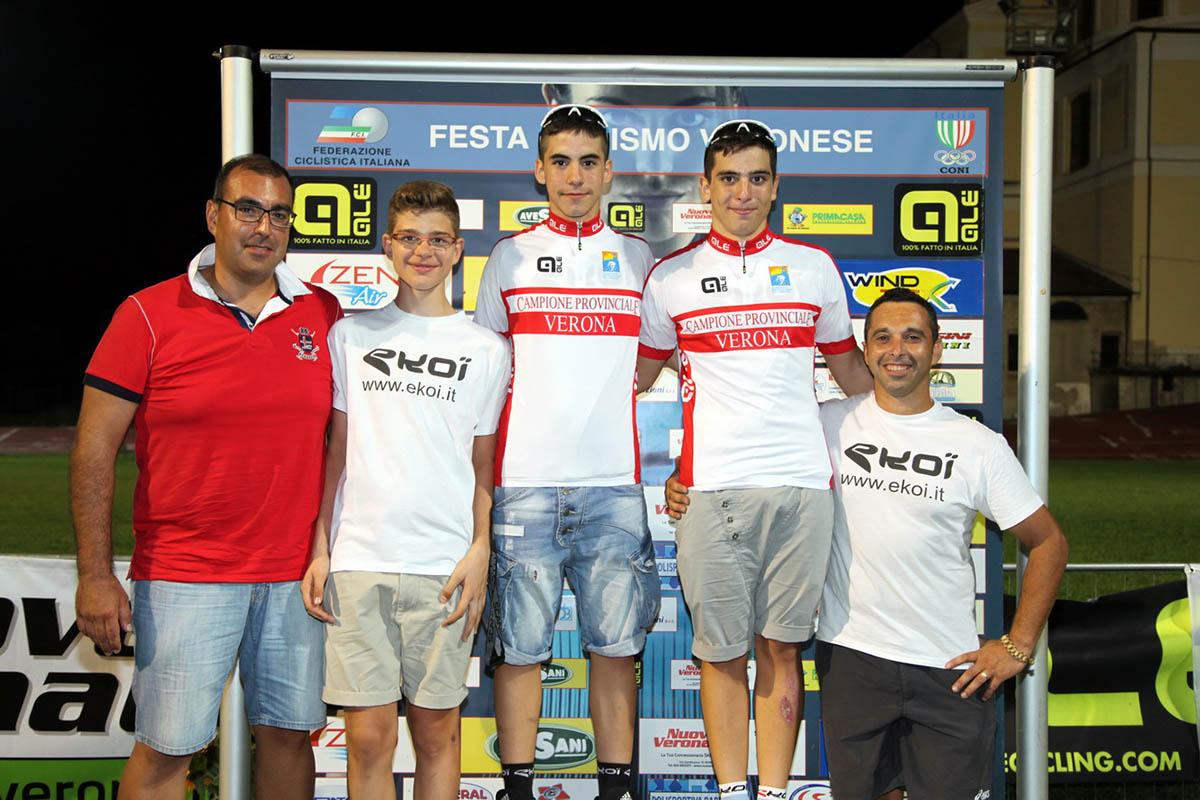 Da sinistra: Zoccatelli, Zenati, Floriani, Barbieri, Cordioli Claudio