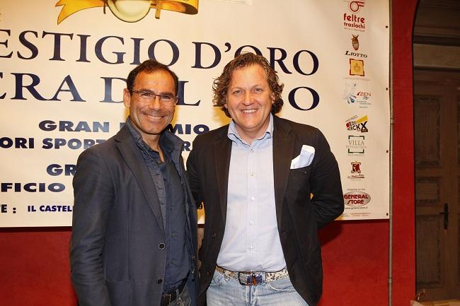 Corrado Lodi con il Commissario Tecnico Davide Cassani