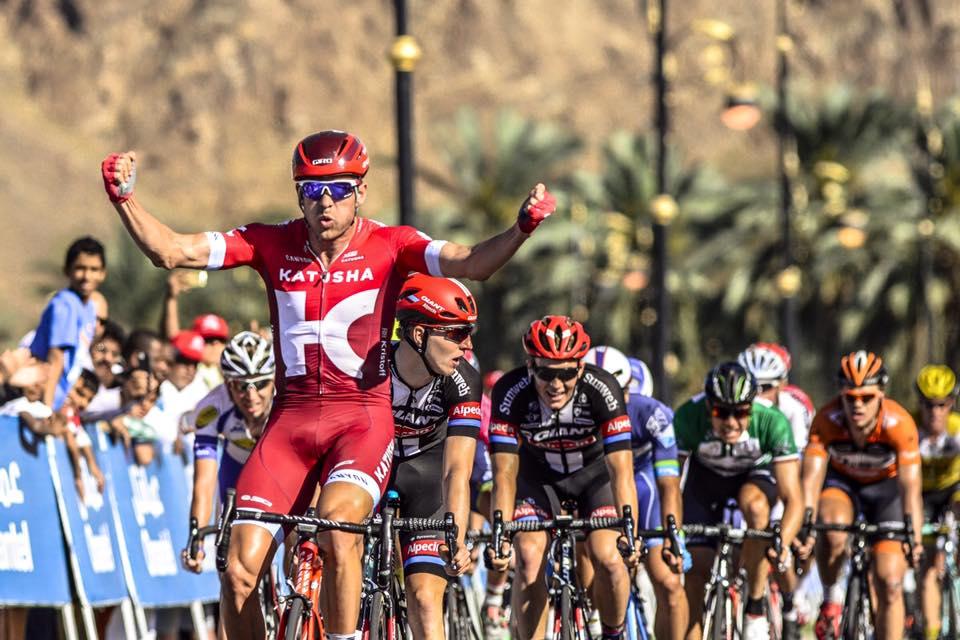 Alexander Kristoff (Katusha) vince l'ultima volata del Tour of Oman 2016