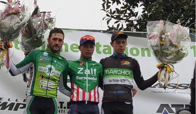 Il podio del Memorial Polese 2016 con Maronese, Delledonne e Vettorel