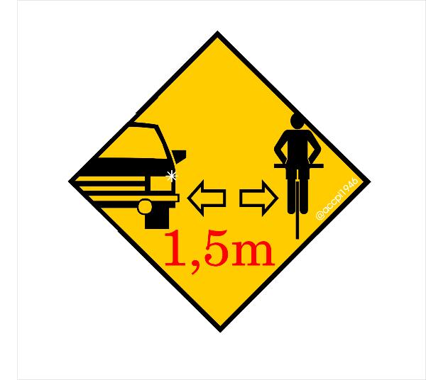 Il logo giallo-nero di #tifacierispettaci per i ciclisti
