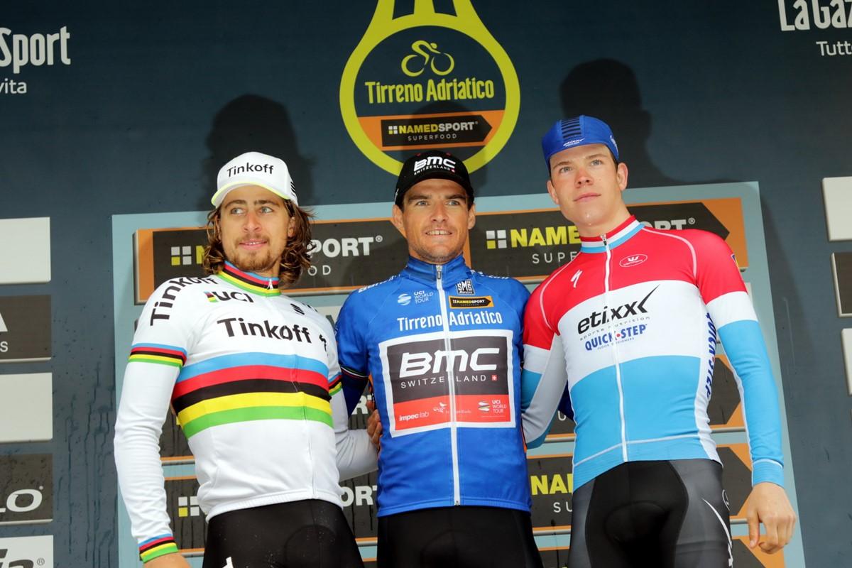 Il podio finale della Tirreno-Adriatico 2016
