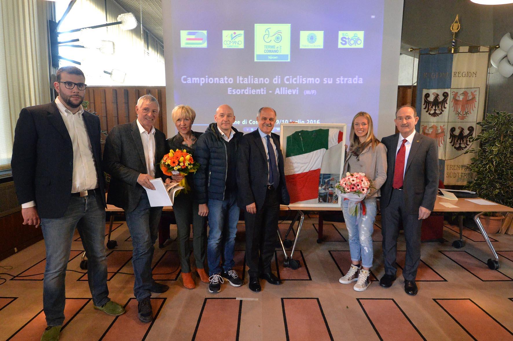 Presentazione dei Campionati Italiani di Ciclismo su Strada esordienti e allievi deò 9-10 luglio 2016 (foto Daniele Mosna)