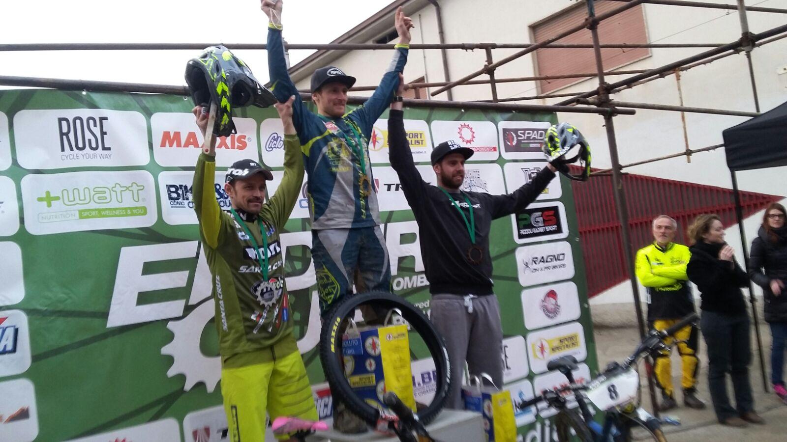Il podio Elite della gara di Petosino