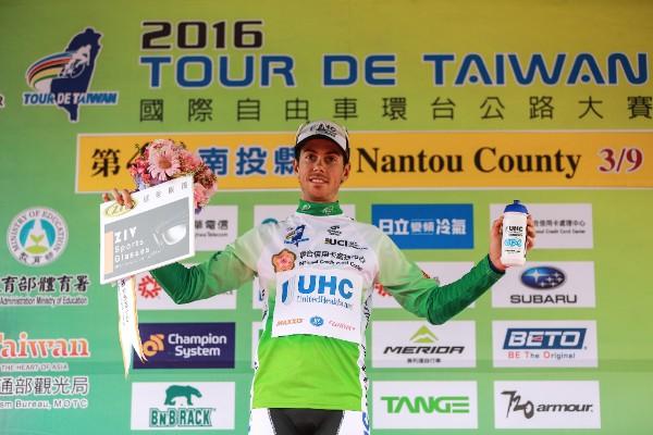 Marco Canola maglia verde tour de taiwan