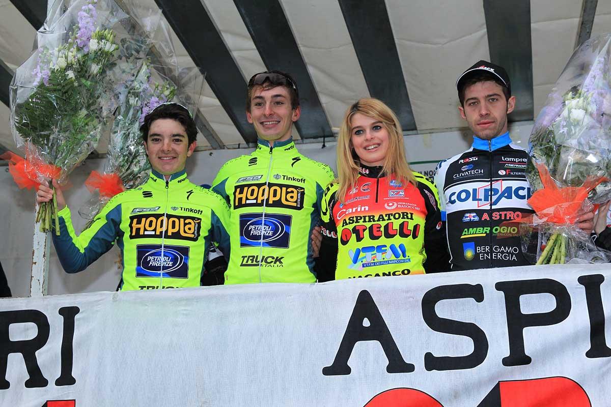 Il podio del 1° Trofeo Comune di Carpaneto Piacentino