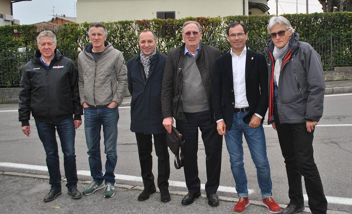 da sinistra, Bevilacqua, Riva, Dagnoni, Colleoni, Cassani e Amadori