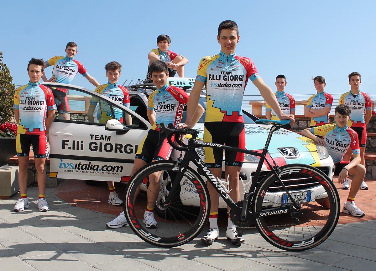 Gli Allievi del Team F.lli Giorgi in ritiro in Liguria
