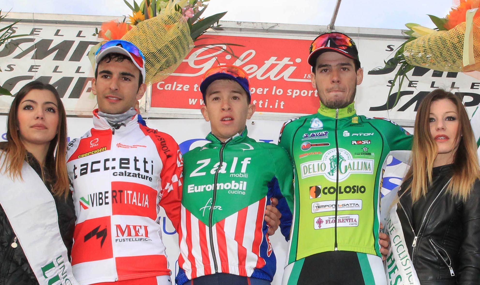 Il podio del 1° Circuito del Compitese a S. Ginese