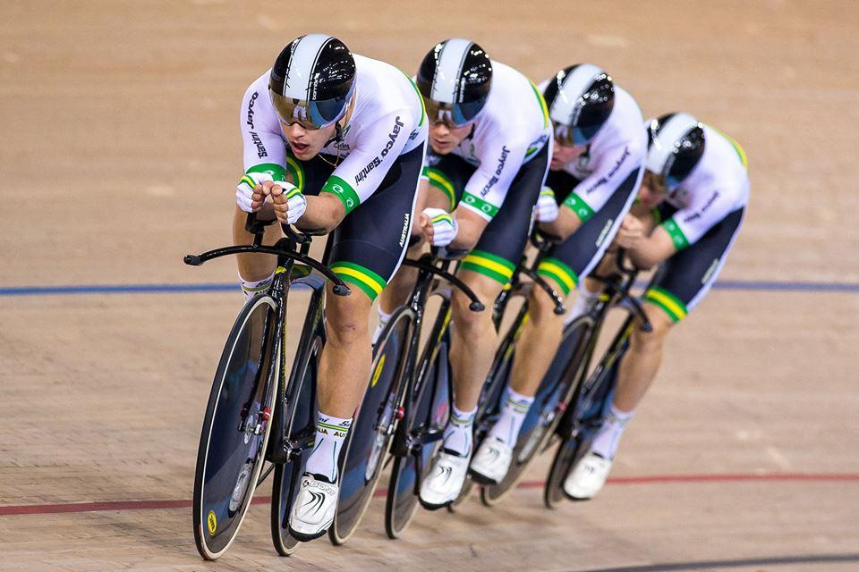 Il quartetto dell'Australia in azione