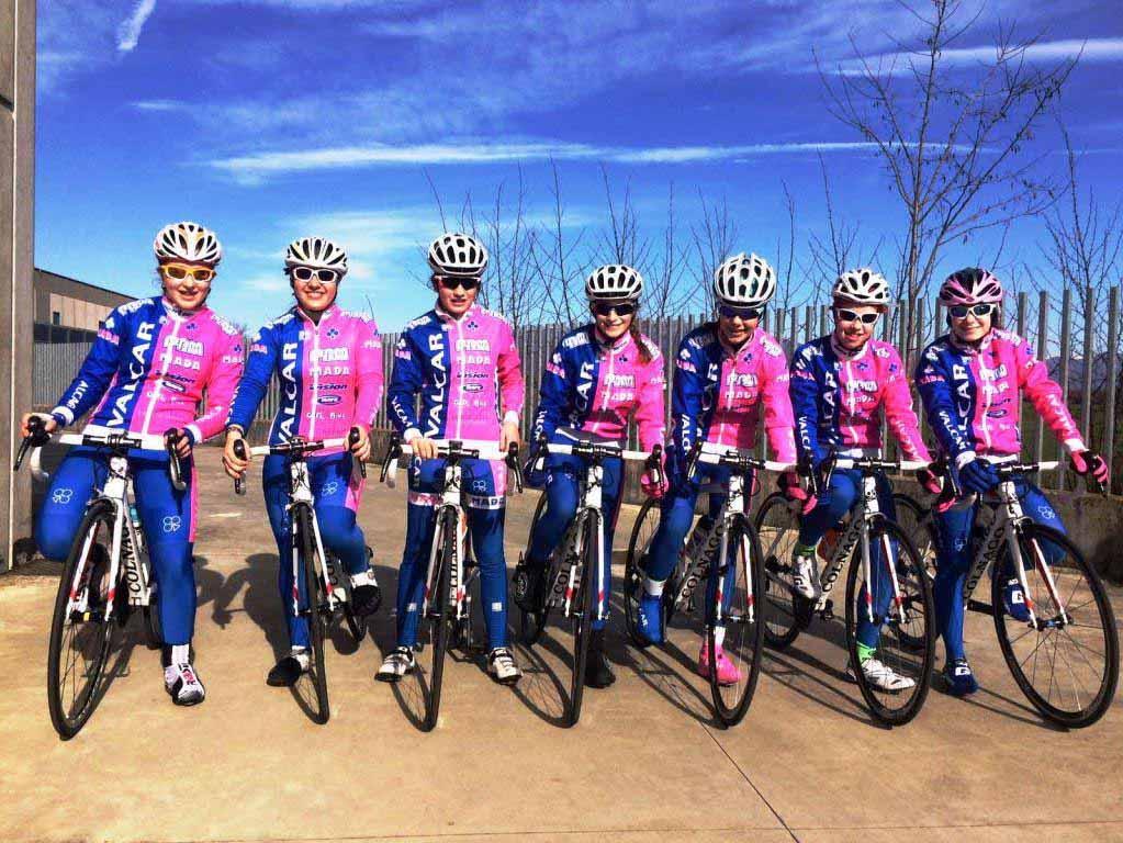 La squadra Donne Esordienti della Valcar - PBM 2016