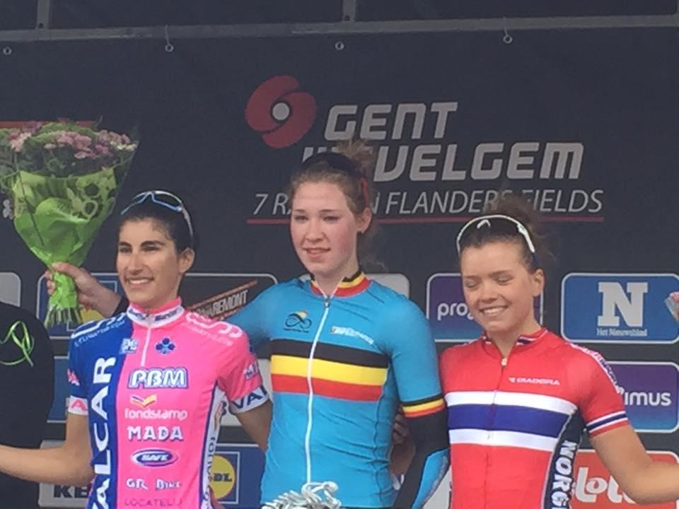 Il podio della Gand-Wevelgem Donne Junior