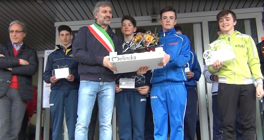 Il podio del 4° Trofeo Montello Spa per Esordienti