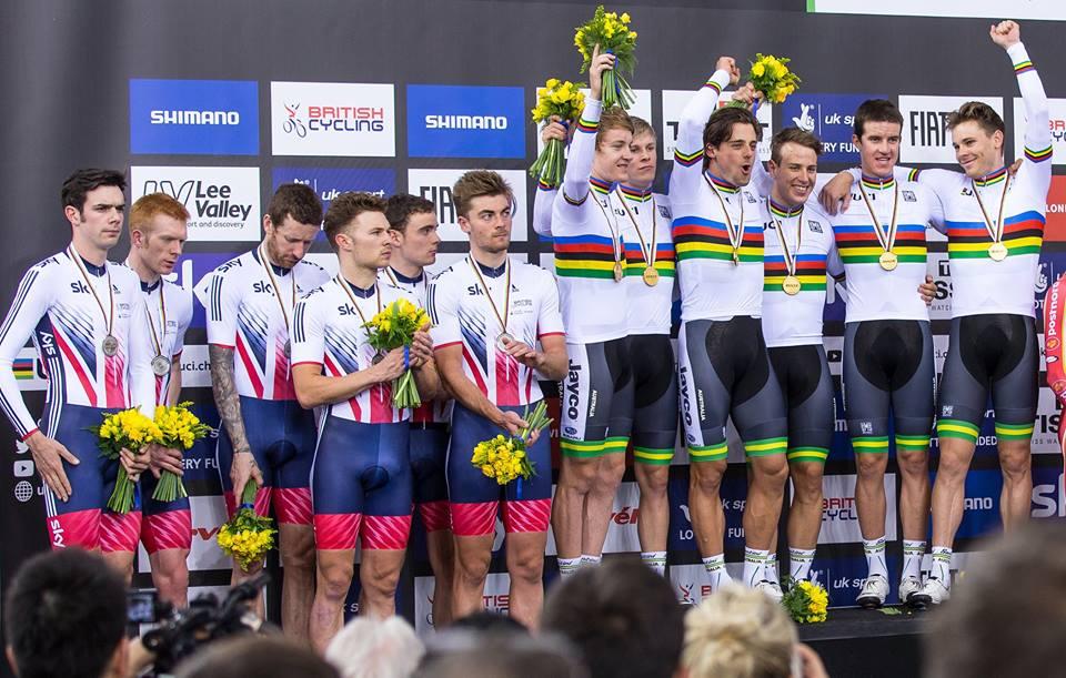 Festa australiana sul podio dell'Inseguimento a squadre