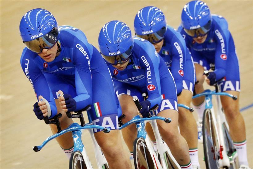 Il quartetto femminile azzurro in azione