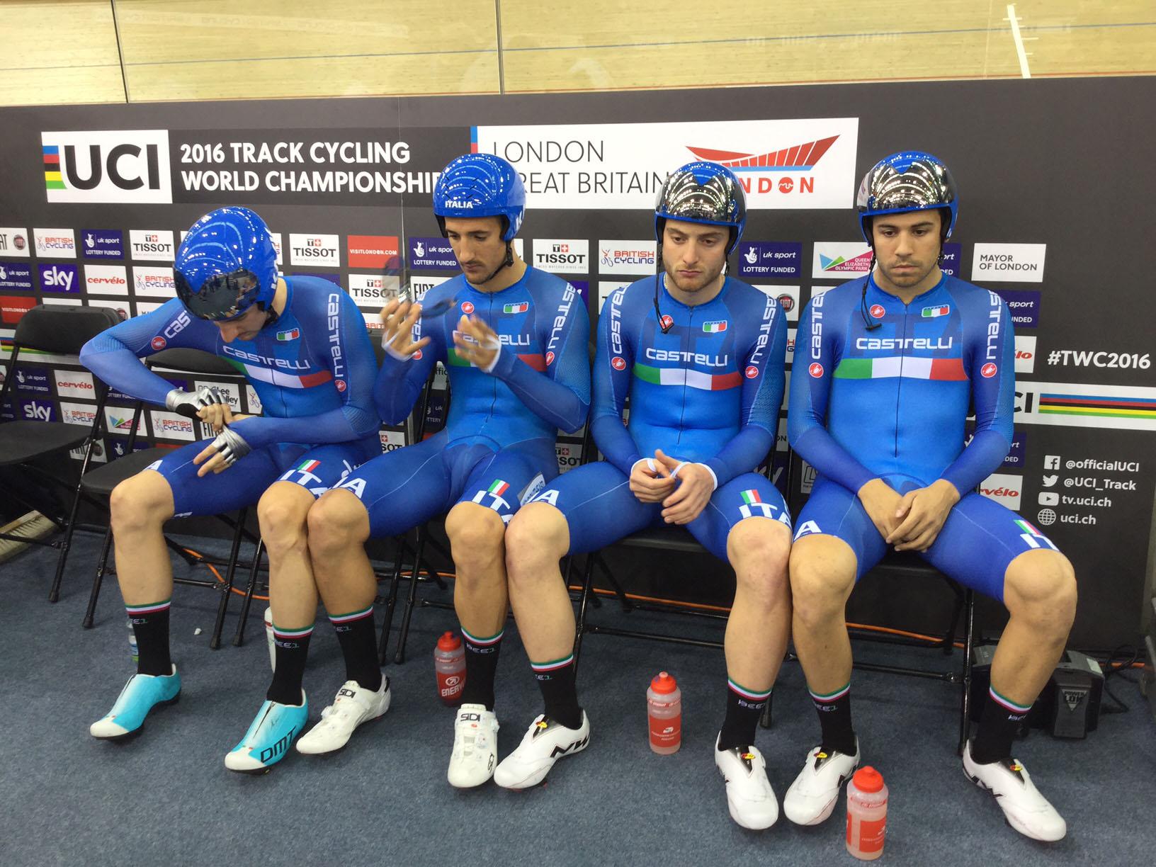 Il quartetto azzurro che ha fatto registrare il nuovo record italiano