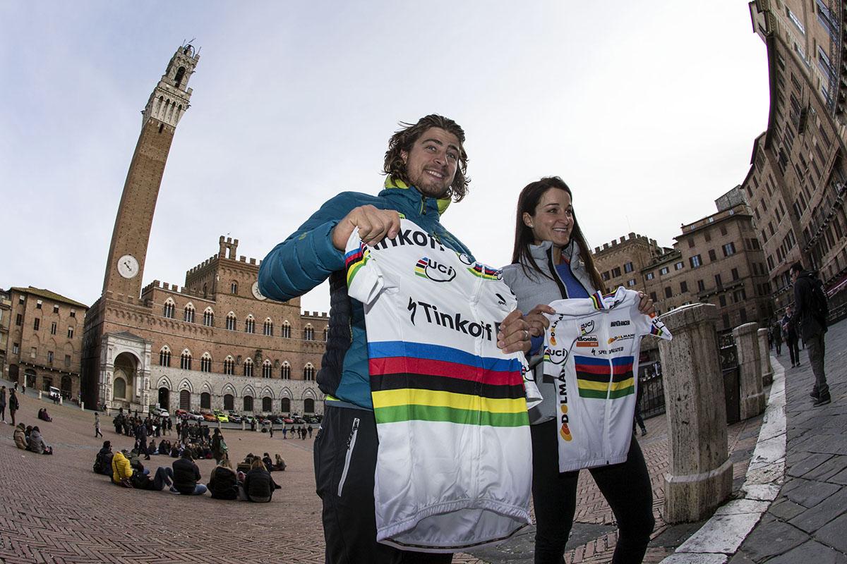 I campioni del mondo Peter Sagan ed Elizabeth Armitstead