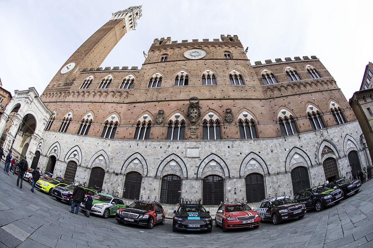 Ammiraglie in Piazza del Campo a Siena