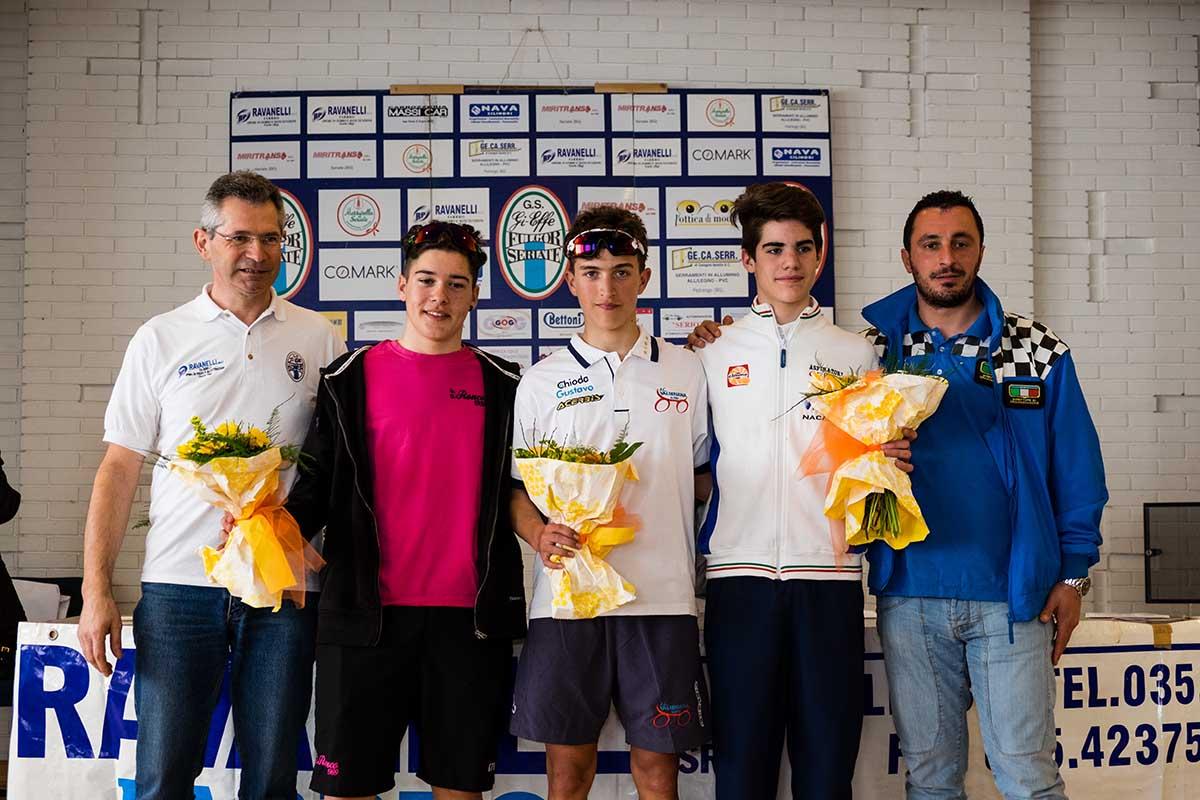 Il podio del Memorial Marcello Perico - Gp Ravanelli Fabbro