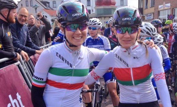 La campionessa d'Italia Elena Cecchini e la campionessa di Bielorussia Alena Amialiusik