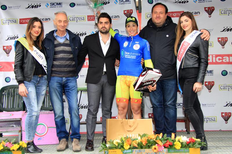 Marta Bastianelli festeggia la vittoria del Giro della Campania in Rosa 2016