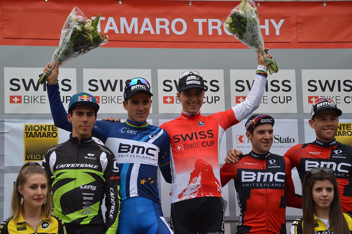 Il podio maschile del Tamaro Trophy