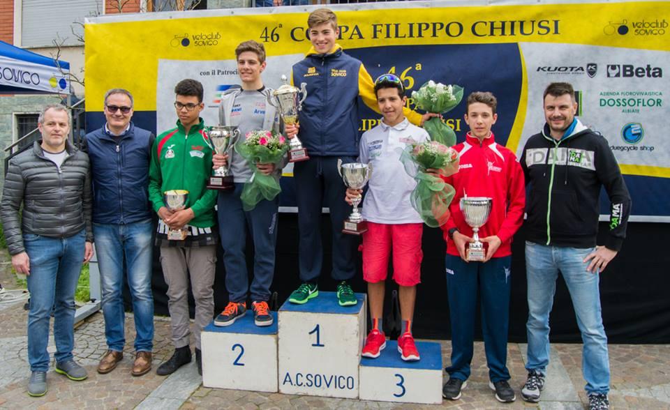 Il podio della Coppa Filippo Chiusi