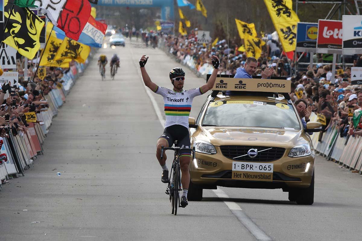 La vittoria di Peter Sagan al Giro delle Fiandre numero 100