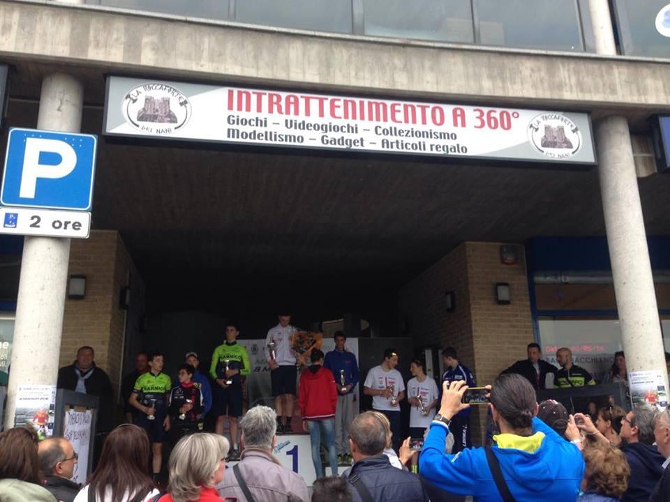 Il podio della gara Esordienti 1° anno