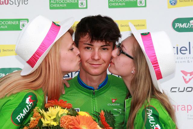 Alessandro Covi indossa la maglia verde della classifica a punti