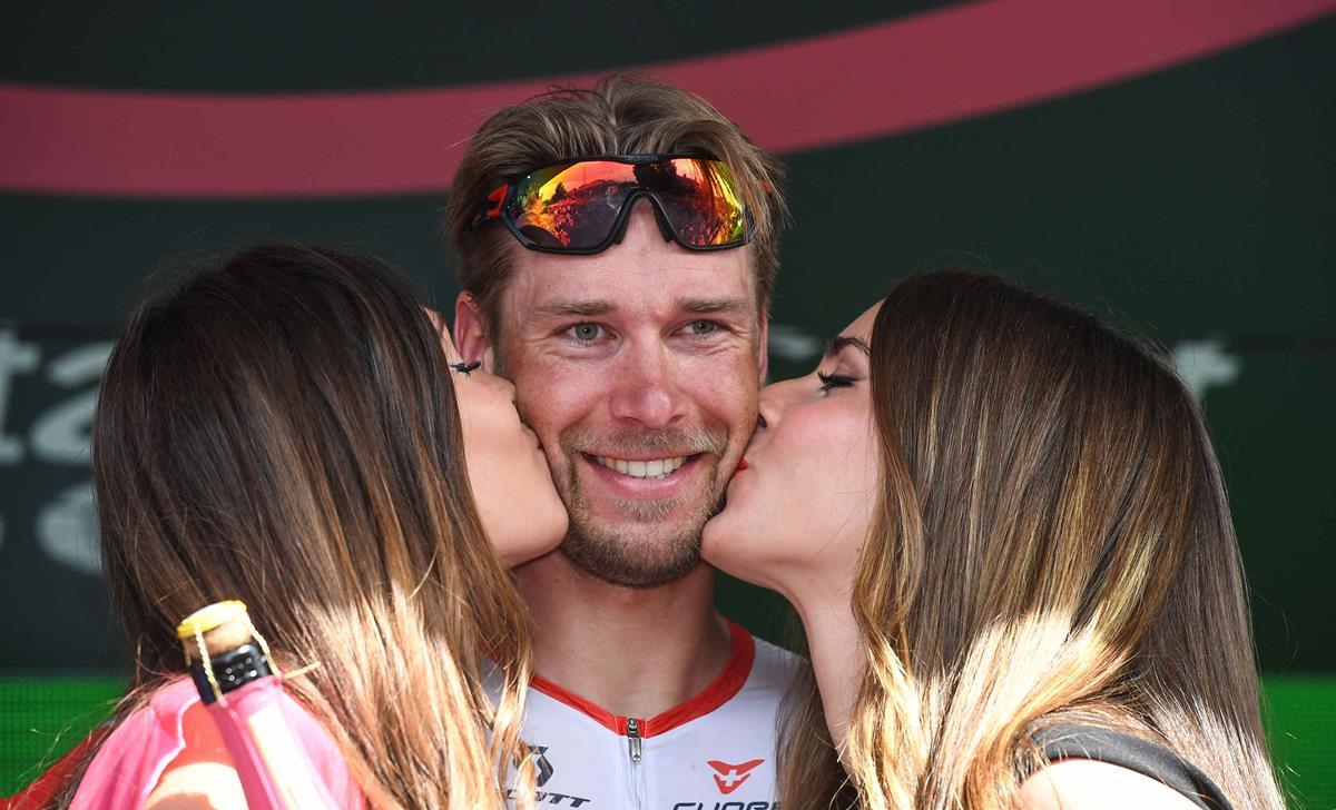 Il tedesco Roger Kluge vincitore della 17/a tappa del Giro d'Italia