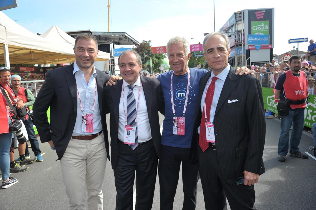 Antonio Rossi, Mauro Vegni, Gianni Motta, Andrea Monti