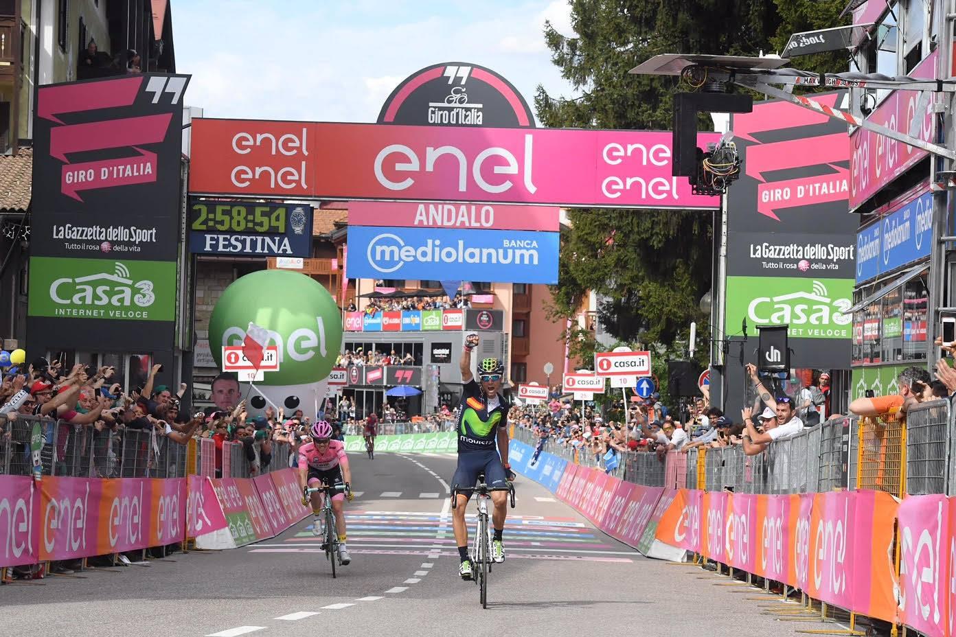 Prima vittoria di Alejandro Valverde al Giro d'Italia
