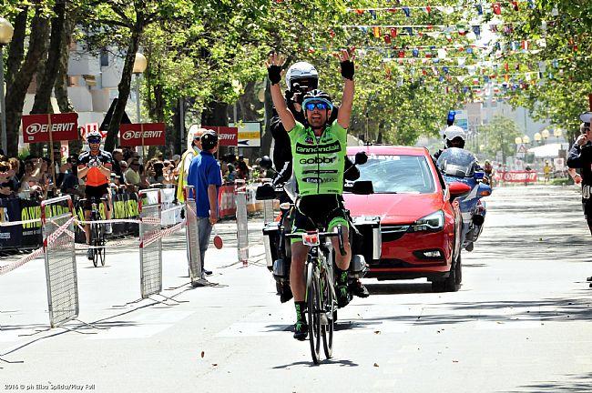 Igor Zanetti (Cannondale-Gobbi-FSA) vincitore del percorso lungo maschile della Nove Colli 2016