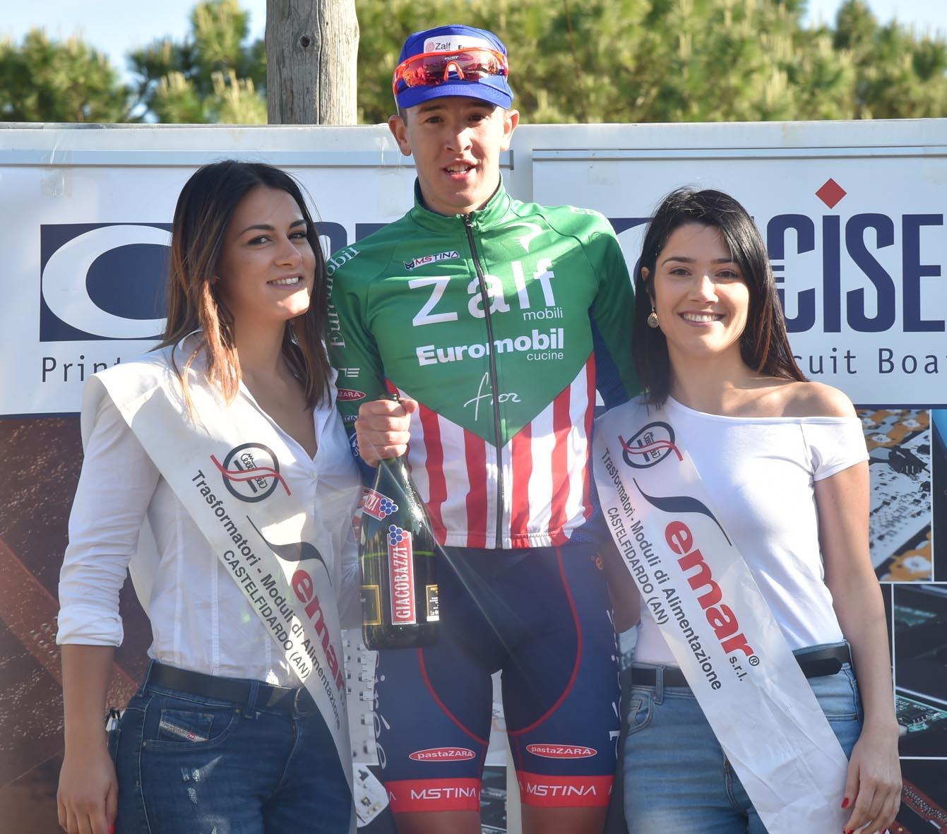 Andrea Bagioli (Zalf-Fior) vincitore della prima prova della Due Giorni Marchigiana