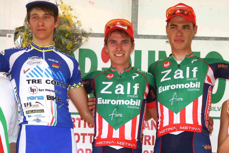 Il podio dell'edizione 2016 dell'Alta Padovana Tour