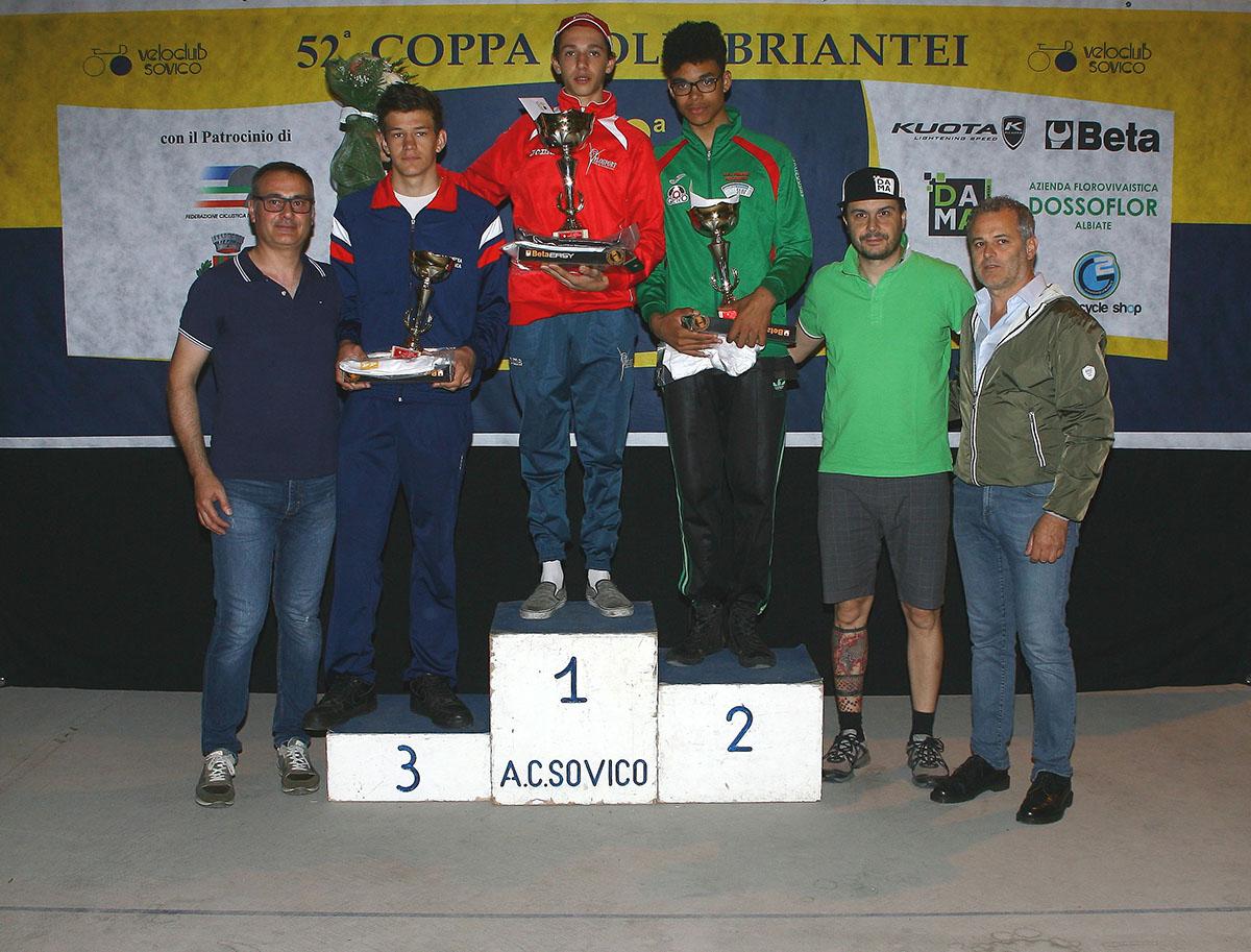 Il podio della Coppa Colli Briantei 2016 per Allievi