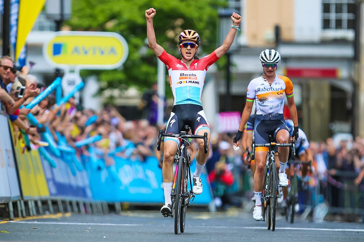 La vittoria di Christine Majerus nella prima tappa dell'Aviva Women's Tour 2016