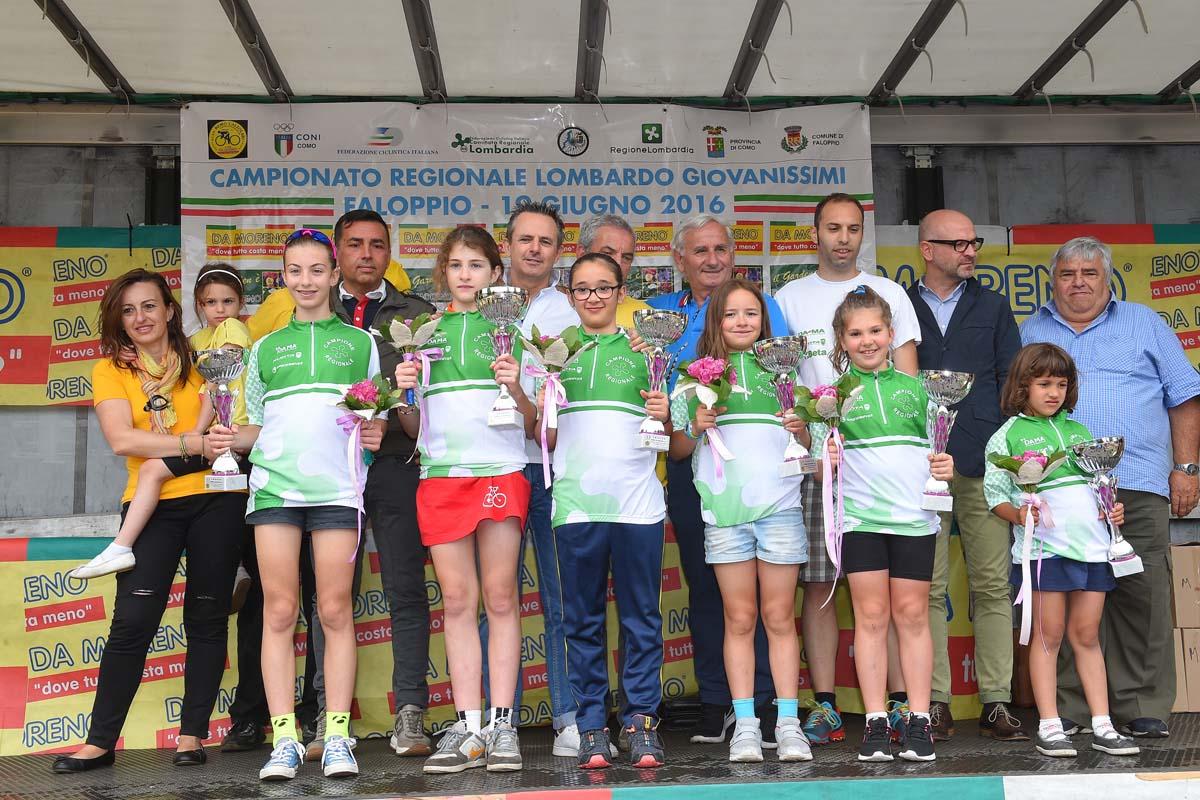 I campionesse lombarde femmine 2016 della categoria Giovanissimi