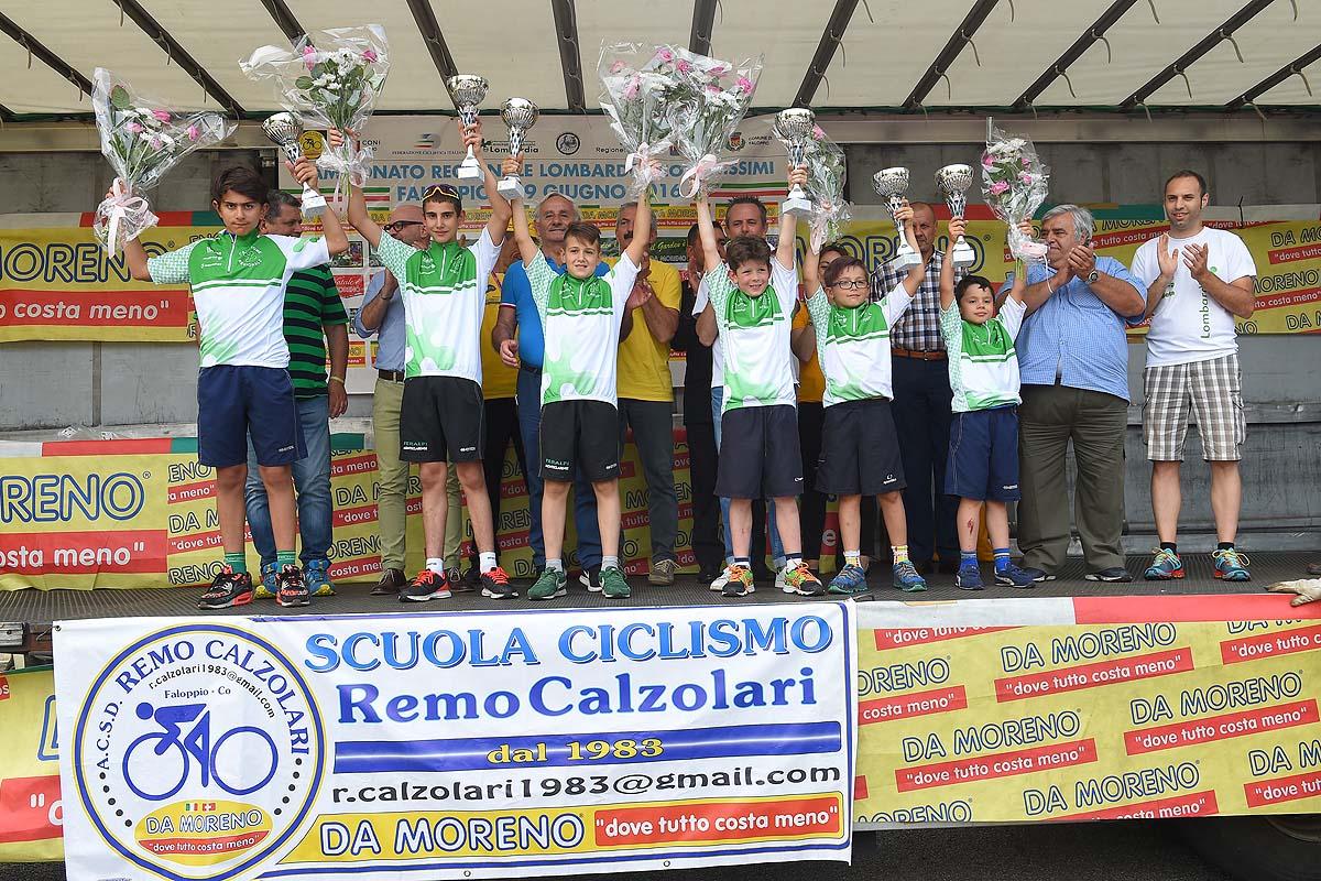 I campioni lombardi maschi 2016 della categoria Giovanissimi
