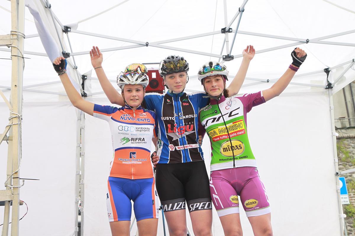 Il podio della gara Donne Esordienti