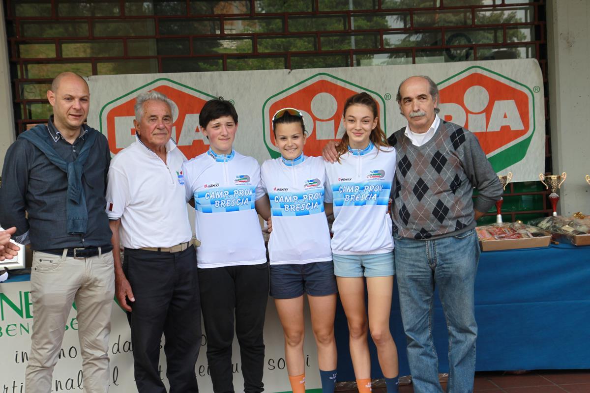 Le tre campionesse provinciali bresciane 2016