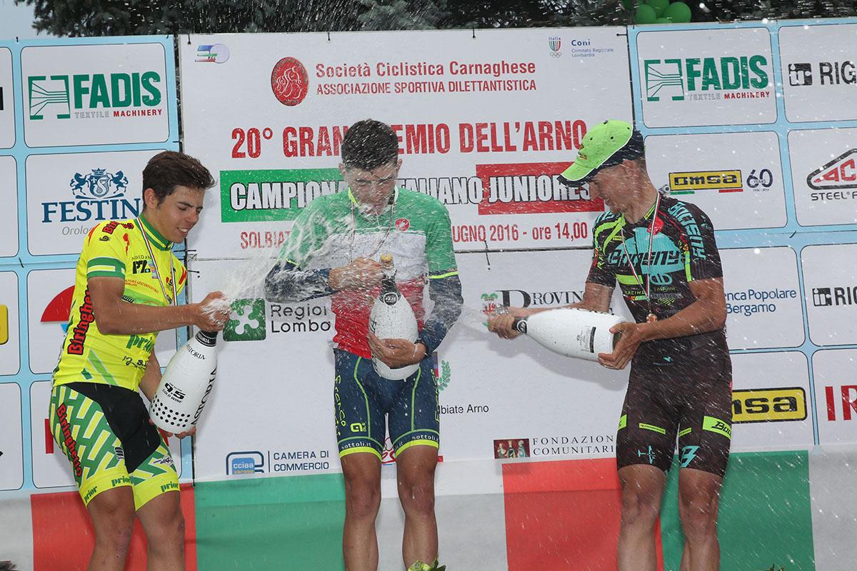 Festa sul podio tricolore di Solbiate Arno